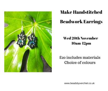 Make beadwork Stitched earrings