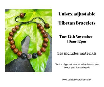 Unisex adjustable Tibetan bracelet