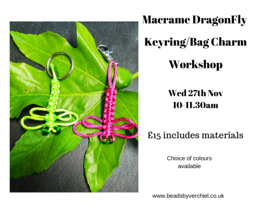 <!008b--> Mini Macrame Dragonfly Workshop