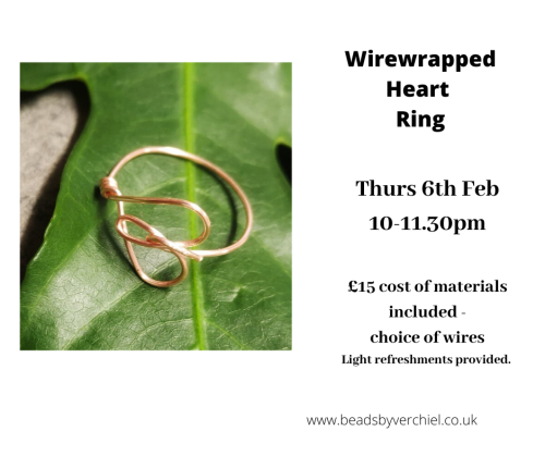 <!008b-->Wire wrapped Heart Ring workshop