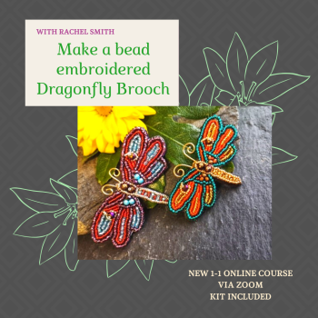 NEW ONLINE Dragonfly Brooch workshop