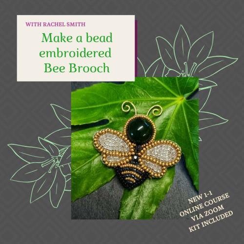 <!003->NEW ONLINE Bee Brooch workshop