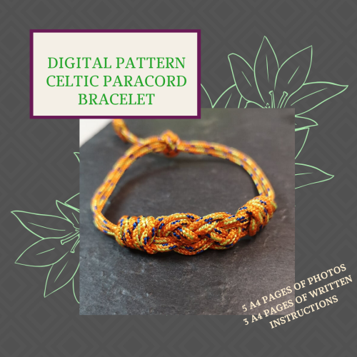 DIGITAL PDF PATTERN - CELTIC PARACORD BRACELET