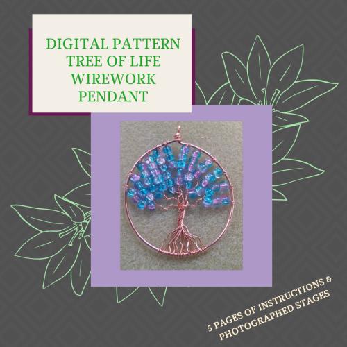 DIGITAL PDF PATTERN - WIREWORK TREE OF LIFE