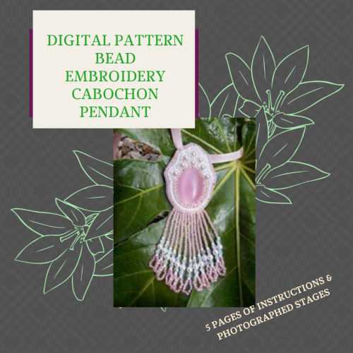 DIGITAL PDF PATTERN - BEAD EMBROIDERY PENDANT