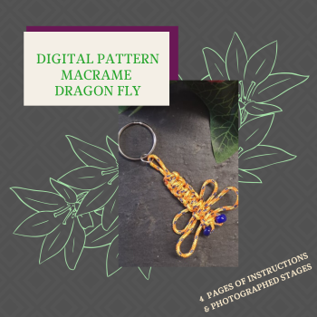 DIGITAL PDF PATTERN - MACRAME DRAGONFLY