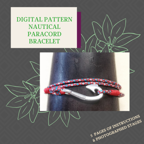 DIGITAL PDF PATTERN - NAUTICAL PARACORD BRACELET