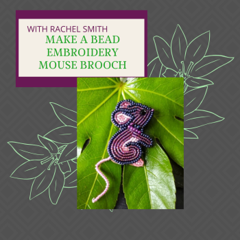 NEW ONLINE Mouse Brooch workshop