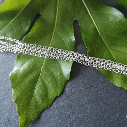 1 Metre Silver plated rolo chain for jewellery making