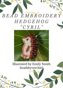 "Bead embroidery Hedgehog ""Cyril""  kit"