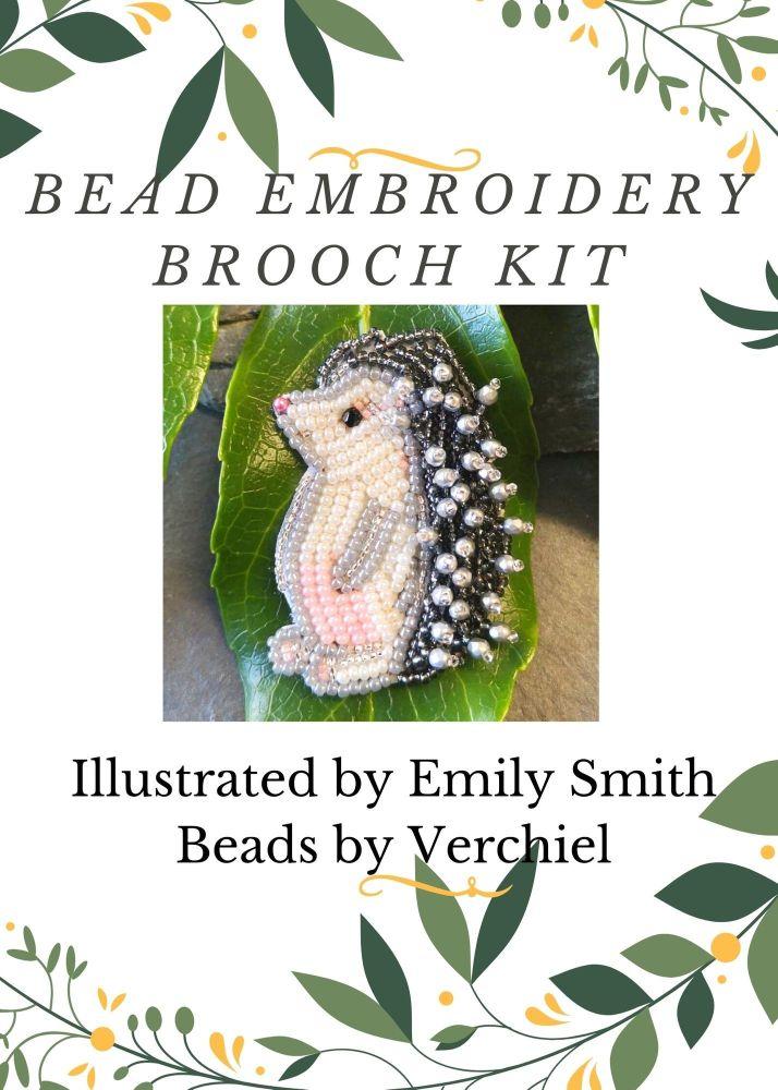 <!001->Bead embroidery Hedgehog