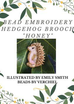 "Bead embroidery Hedgehog ""Honey""  kit"