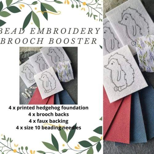 <!001->Bead embroidery Hedgehog Booster bundle