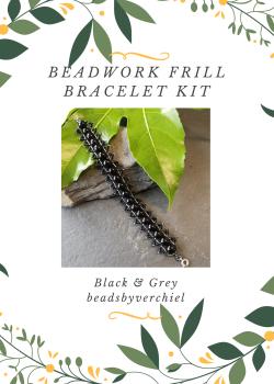 SALE ITEM Black Beadwork Bracelet Kit