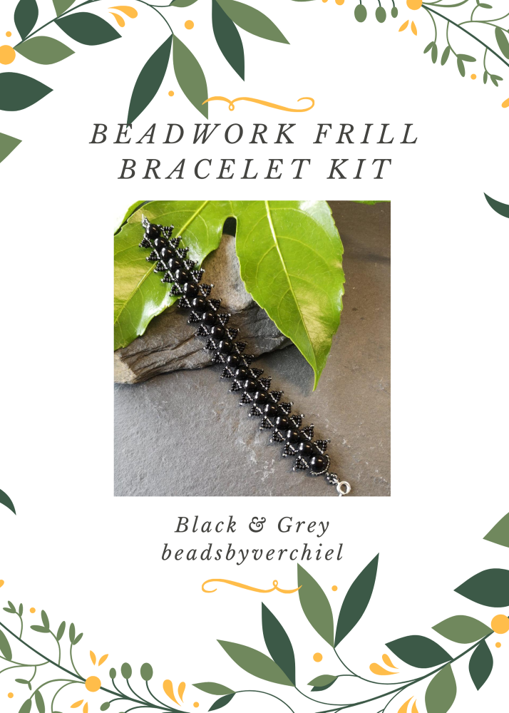 Black Beadwork Bracelet Kit