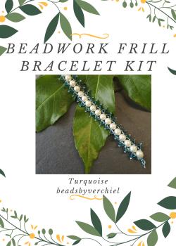 Turquoise & Cream Beadwork Bracelet Kit