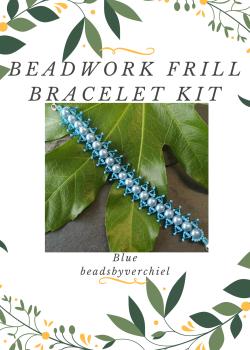 SALE ITEM Blue Beadwork Bracelet Kit