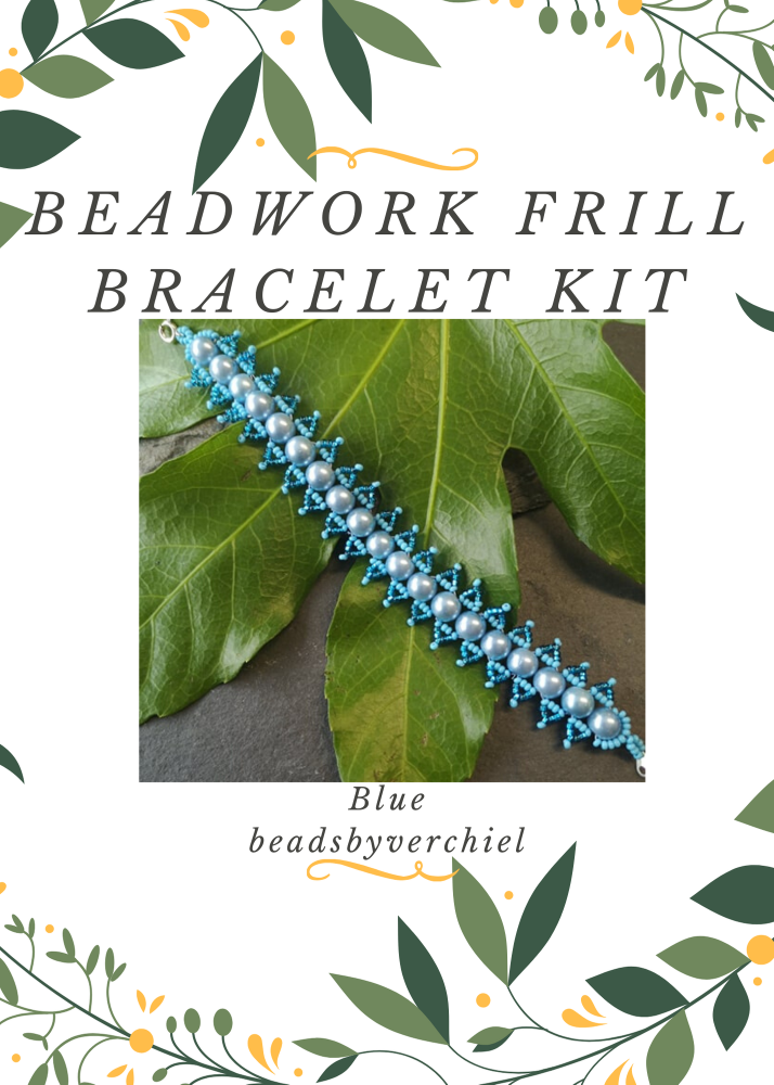 Blue Beadwork Bracelet Kit