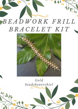 SALE ITEM Gold Beadwork Bracelet Kit