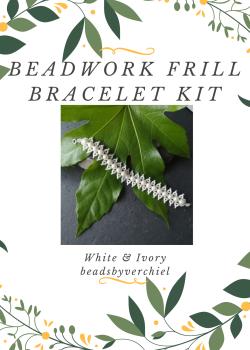 White & Cream Beadwork Bracelet Kit