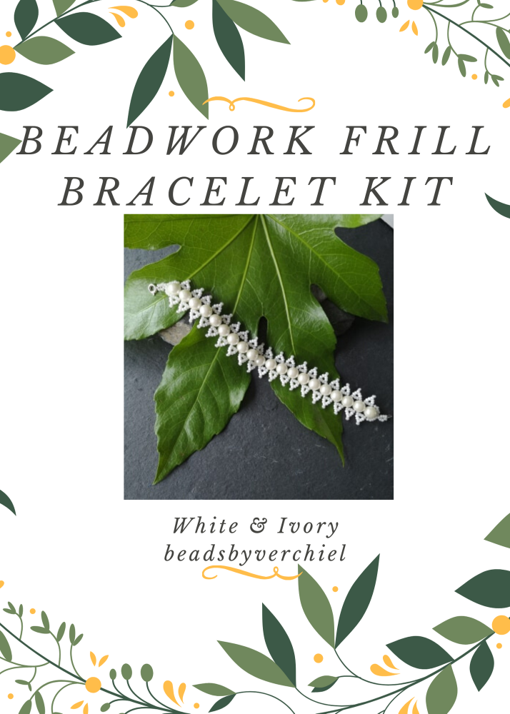White & Cream Beadwork Bracelet Kit
