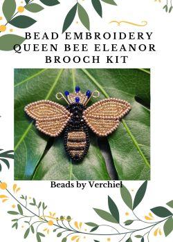 """Bead embroidery Queen Bee  """"Queen Eleanor""""  kit"""