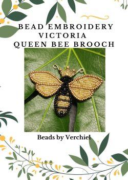 """Bead embroidery Queen Bee  """"Queen Victoria""""  kit"""