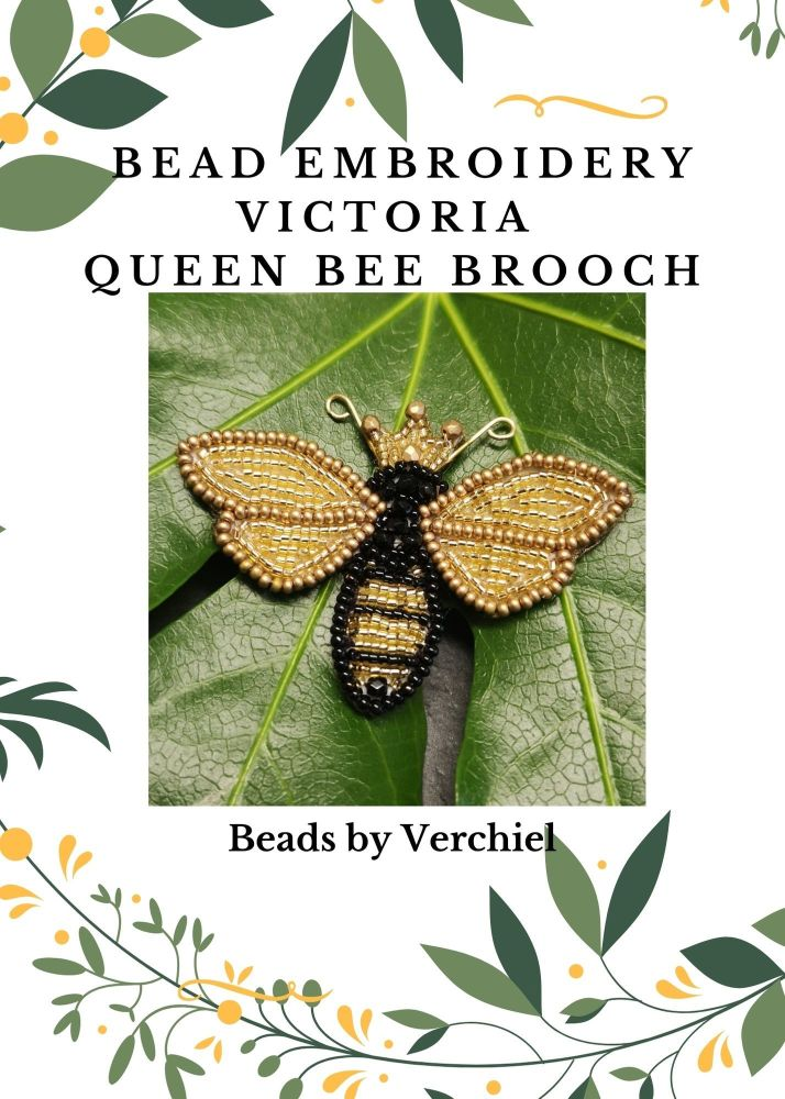 <!001->Bead embroidery Queen Bee