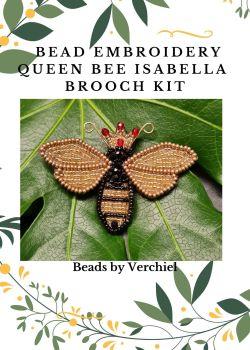 "Bead embroidery Queen Bee  ""Queen Isabella""  kit"
