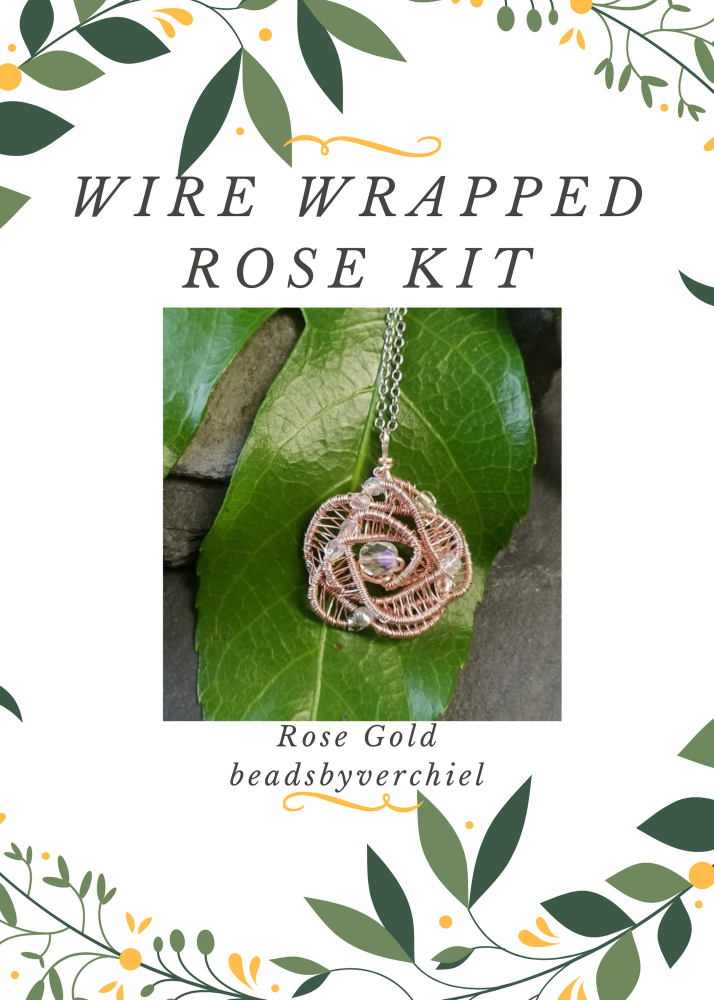 SALE ITEM Wire Wrapped Rose Kit - Rose Gold
