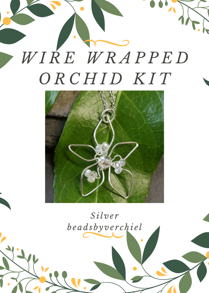 SALE ITEM Wire Wrapped Orchid Kit - Silver