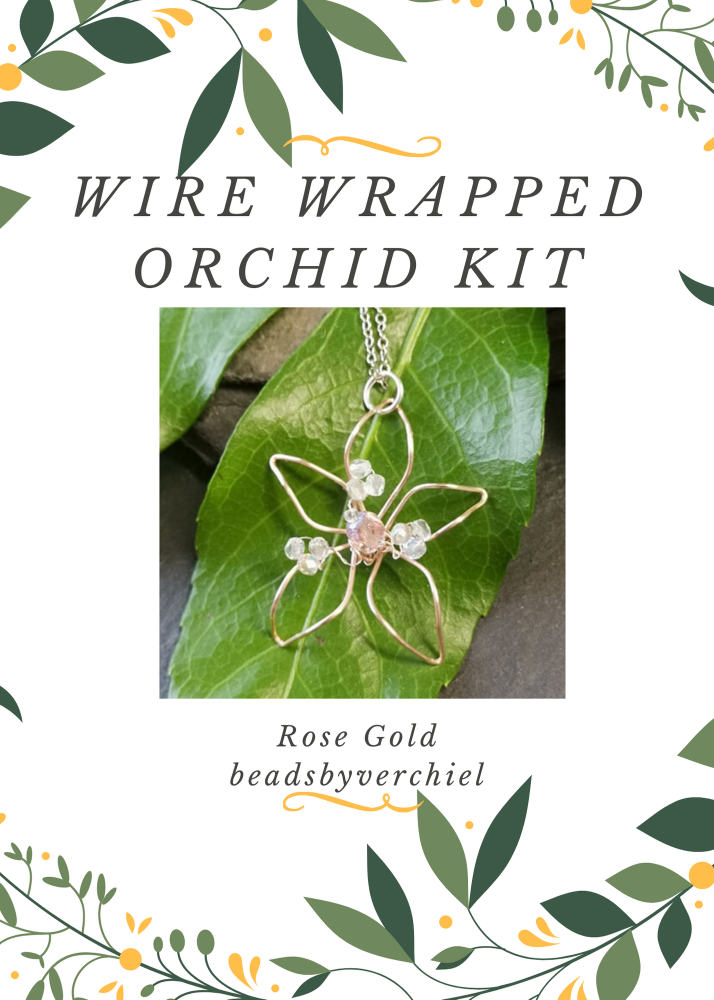 SALE ITEM Wire Wrapped Orchid Kit - Rose Gold