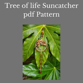 DIGITAL PDF PATTERN - WIREWORK TREE OF LIFE SUNCATCHER