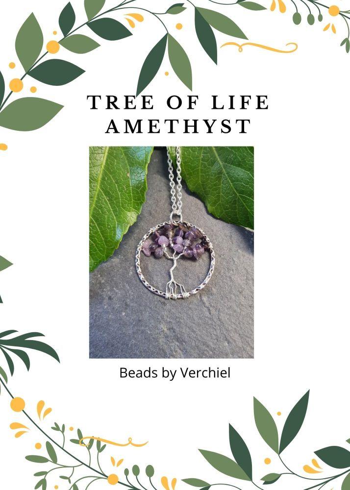 Amethyst Tree of Life Jewellery Making Kit