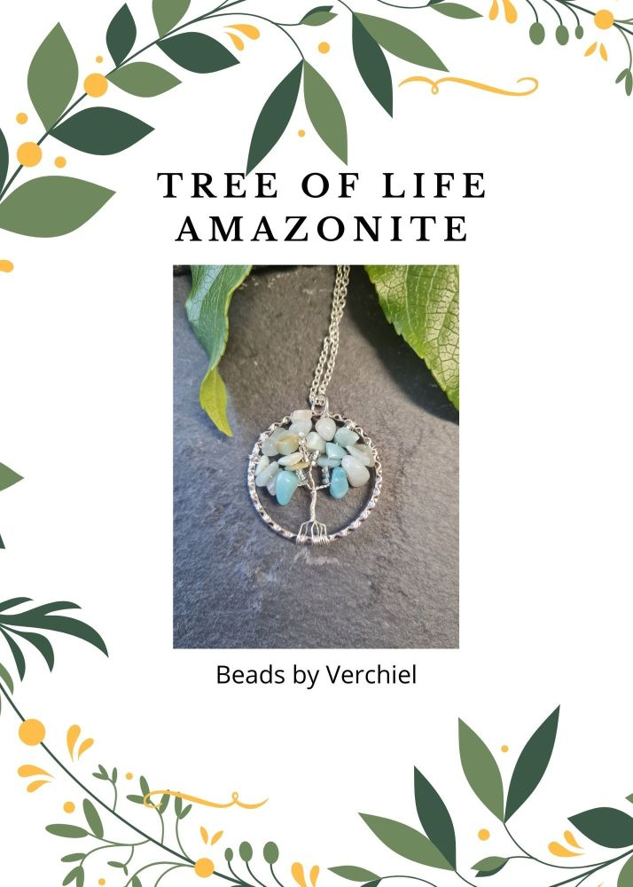 <!001-> Amazonite Tree of Life Jewellery Making Kit