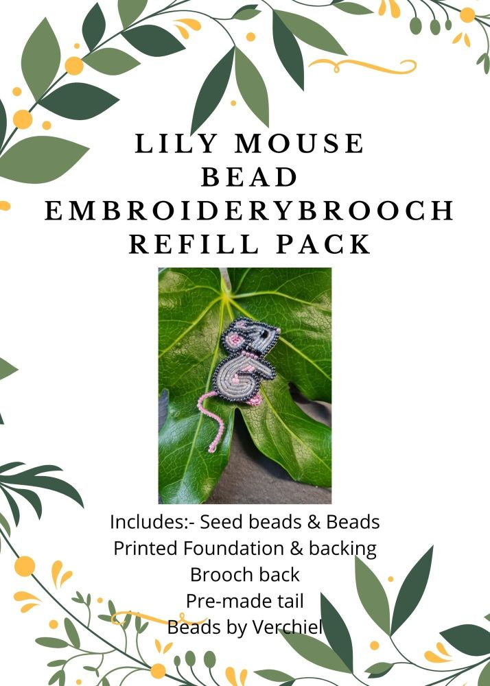 <!001->Bead embroidery Lily Mouse REFILL PACK