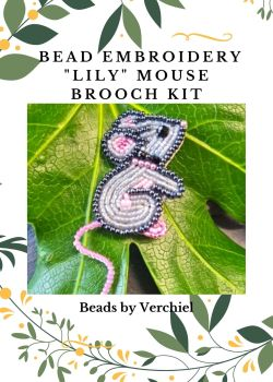 Bead embroidery Lily Mouse kit