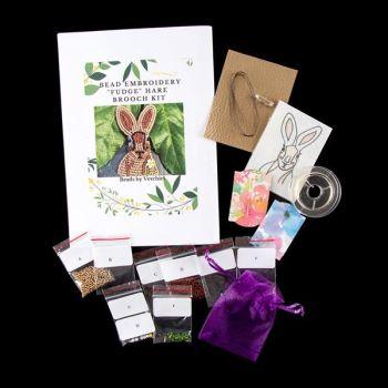 "Bead embroidery Hare ""Fudge"" Kit"