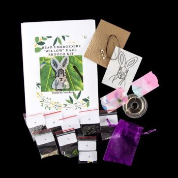 """Bead embroidery Hare """"Willow"""" Kit"""