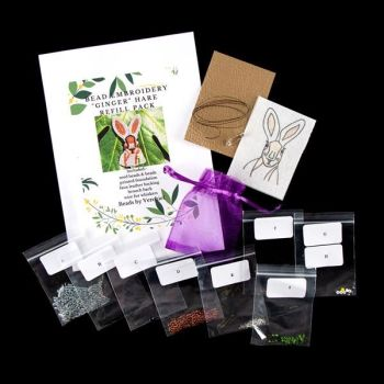 """Bead embroidery Hare """"Ginger"""" REFILL PACK"""