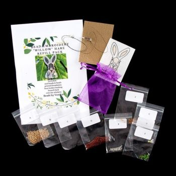 """Bead embroidery Hare """"Willow"""" REFILL PACK"""
