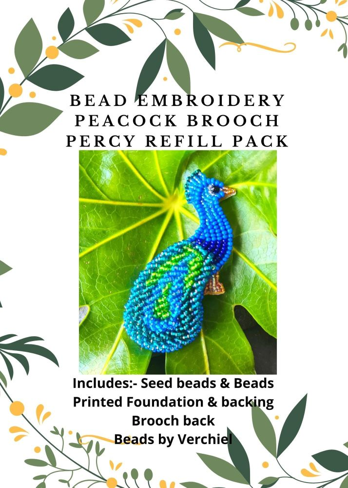 <!001->Bead embroidery Percy Brooch Pendant REFILL kit