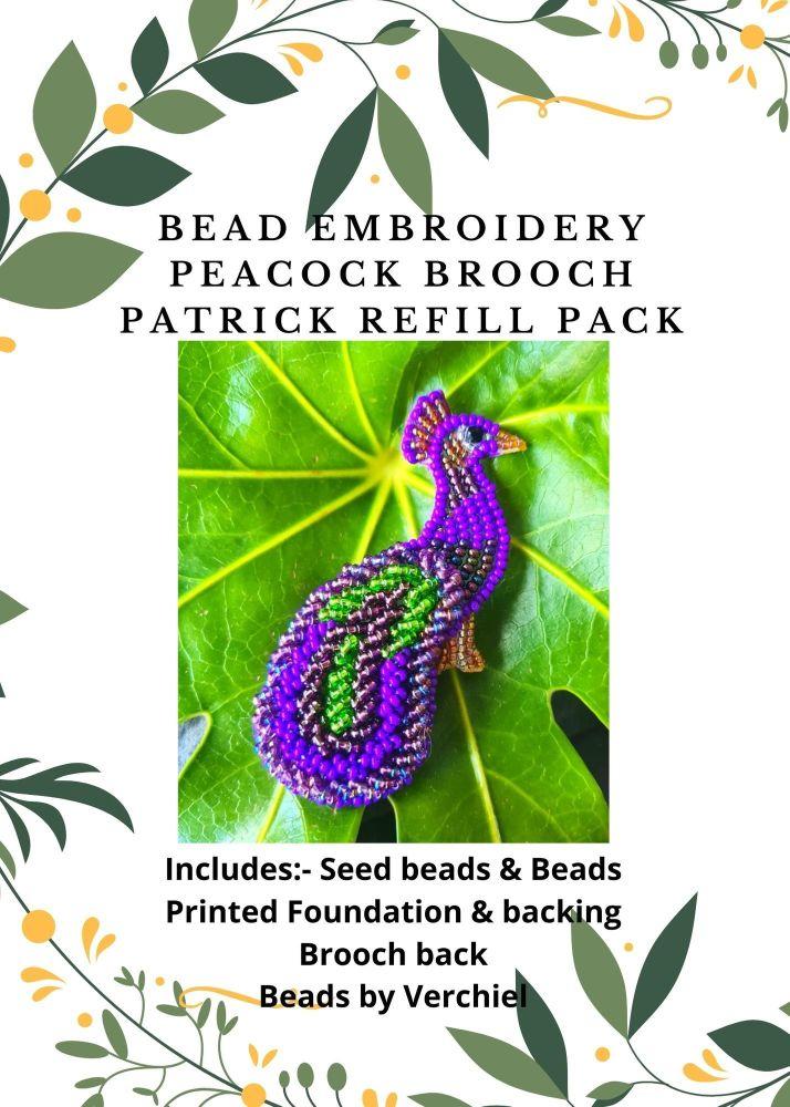 <!001->Bead embroidery Patrick Brooch Pendant REFILL kit