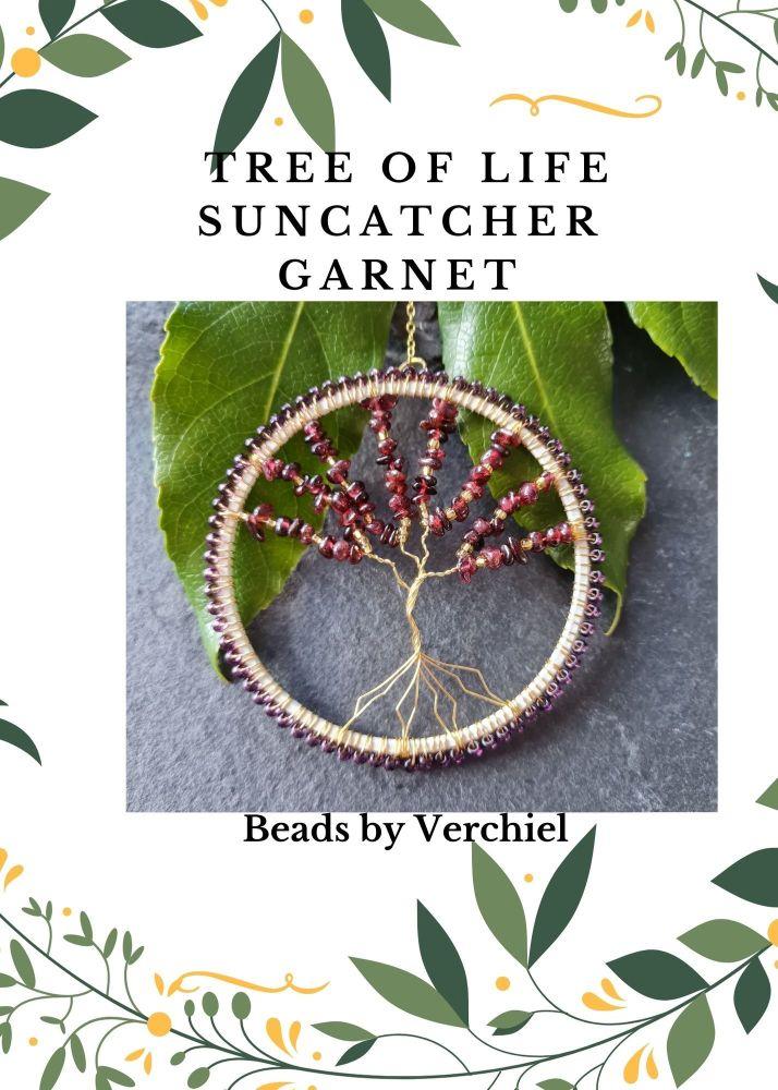 <!001-> Garnet Tree of Life Suncatcher kit