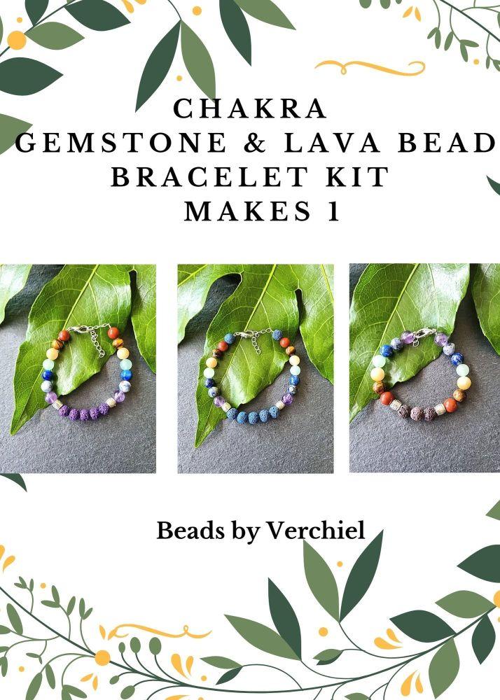 <!001-> Chakra Gemstone Bracelet Kit