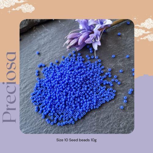 Preciosa Czech size 10 seed beads  -  Opaque Lavender Blue