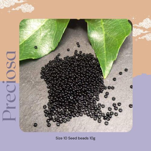 Preciosa Czech size 10 seed beads  - Opaque Black