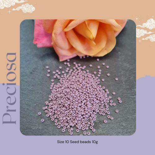 Preciosa Czech size 10 seed beads  - Opaque Mauve