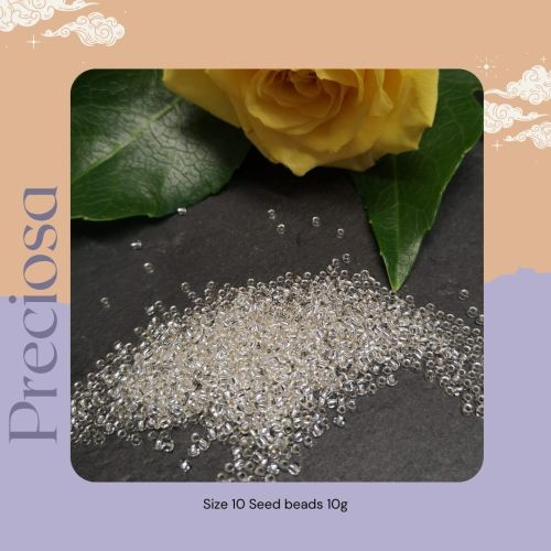 Preciosa Czech size 10 seed beads  - Silver Lined