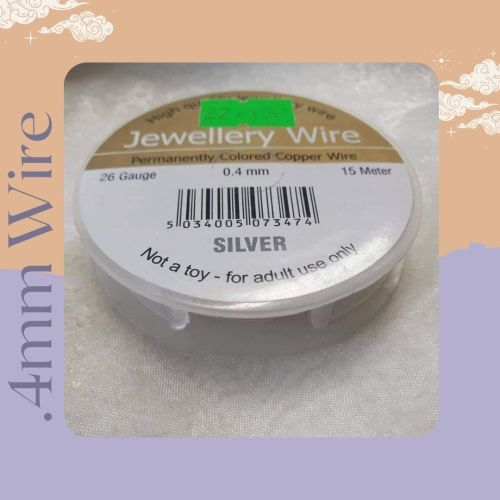 .4mm silver plated wire 15 metres